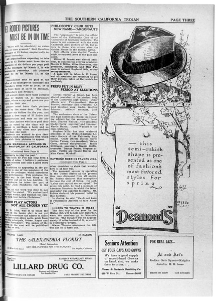 The Southern California Trojan, Vol. 11, No. 60, February 26, 1920