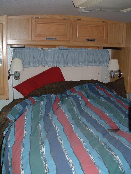 Bed in motohome