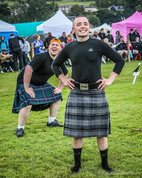 Jack McCluskey & Neil Mitchell at Bridge of Allan Highland Games