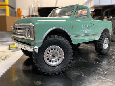 Axial SCX24 1967 Chevy C10 teal green