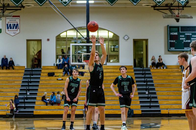 Holy Family Varsity Boys Basketball vs. Jordan, 1/23/20: Nick Hendler '20 (5)
