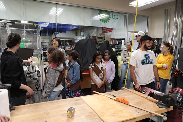 Girl Scout Troop 129167 Visits Team 624 3-4-20