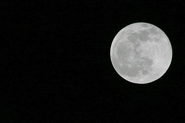 Full moon in Riverside County, Southern California.