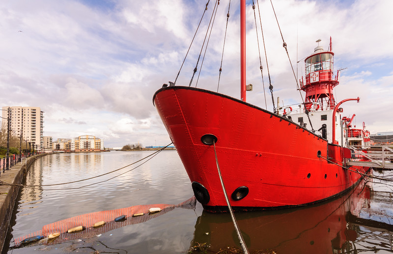 Lightship in Cardiff Docks