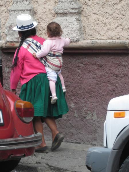 Ecuadorian Woman and Baby
