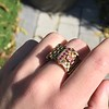 .38ctw Antique Diamond and Ruby Buckle Ring 16