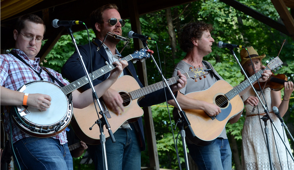 . The John Byrne Band performs during an afternoon concert at the 53rd Annual Philadelphia Folk Festival on Sunday August 17,2014. Photo by Mark C Psoras/The Reporter