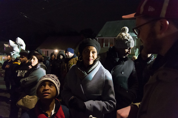 03/01/19 Wesley Bunnell | Staff A candlelight vigil was held on Friday night in front of 73 Elam St where fire claimed the lives of two men, 17 year old Elijah Little and his brother 29 year old Shaheen Davis. Congresswoman Jahanna Hayes is interviewed.