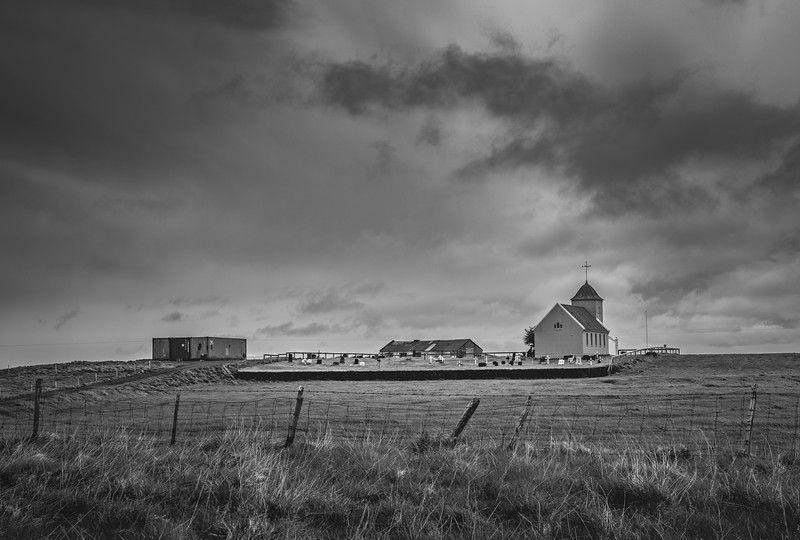 Cemetery in Iceland   Black & White Photography by Wayne Heim
