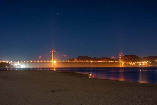 Golden Gate Bridge at night - September 2010
