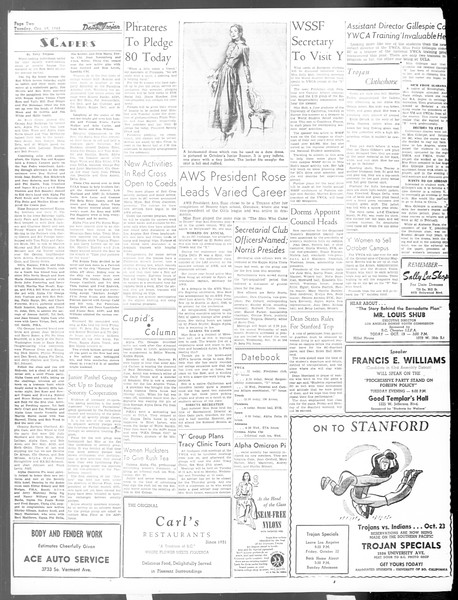 Daily Trojan, Vol. 40, No. 27, October 19, 1948