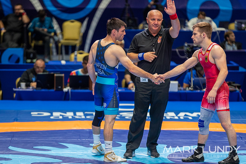 Champ. Round 2: Ildar Hafizov (United States) over Etienne Kinsinger (Germany)  •  Dec 6-1 - 2019 World Championships