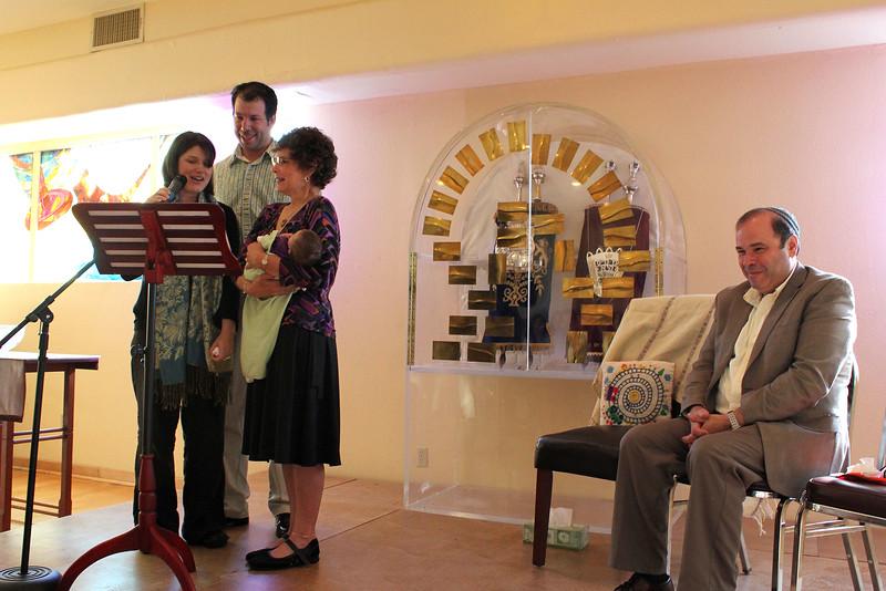 Abby tells Shai about her middle name, Brooklyn, while Avram, Grandma Hope, and Grandpa Gary watch (photo by Jordan Fifer)