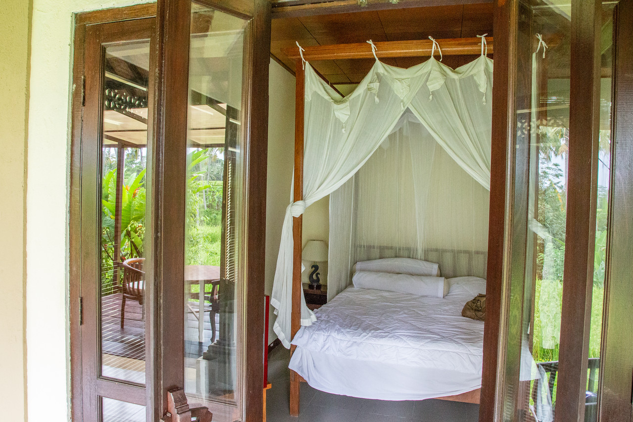 View of Bedroom of Ubud Bali Villa Rental