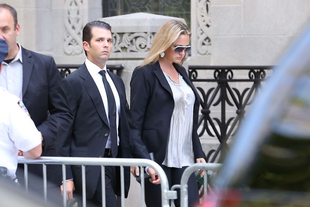 . Donald Trump Jr. attends the Joan Rivers memorial service at Temple Emanu-El on September 7, 2014 in New York City.  (Photo by Taylor Hill/Getty Images)