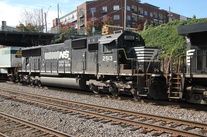 NS 282-06 Jacksonville-Chicago NS7599 NS2513 intermodal NS Circle Atlanta, GA