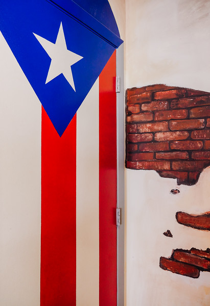 The Puerto Rican flag proudly displayed everywhere!