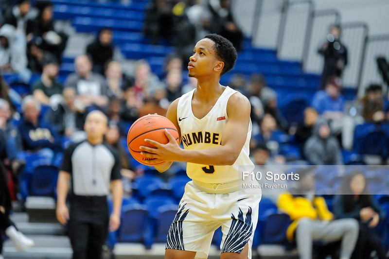 TORONTO, CANADA - Jan 24: during OCCA Mens Basketball Matchup between Humber Hawks vs Conestoga at Humber Hawks Athletics Center. Photo: Michael Fayehun/F10 Sports Photography