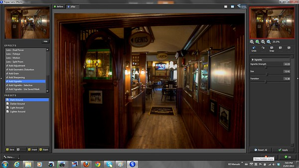 Lens Effects Vignette - Topaz Labs Lens Effects Review