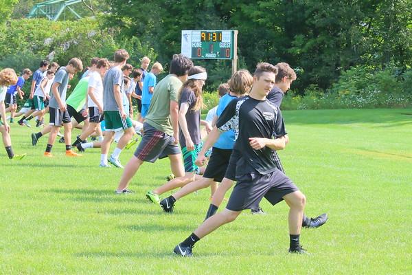 WUHS Boys Soccer Preseason Practice