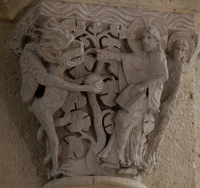 Saulieu Abbey of Saint-Androche Capital, The Devil Tempting Christ