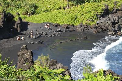 Black Sand Beach,  Maui 2013