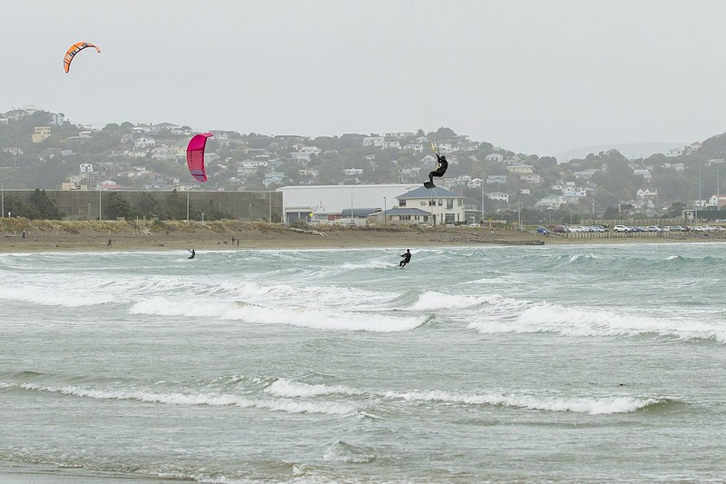 20160325 Kite Boarders at Lyall Bay, Wellington _MG_2328