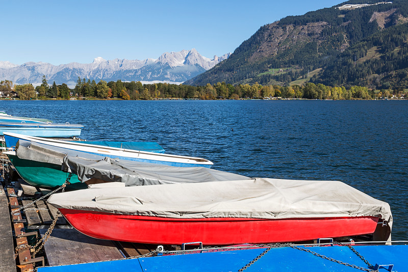 Boats On The Lake, Zell Am See, Austria