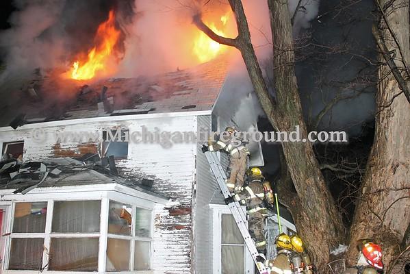 1/22/16 - Delhi Twp house fire, 1746 S. Waverly