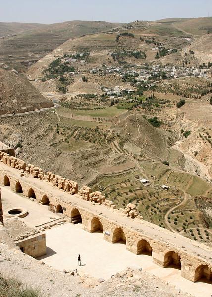 Karak - Another view of the countryside surrounding Karak castle in central Jordan.