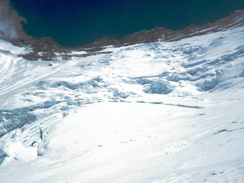 Look back towards Lhotse Face on May 20th.