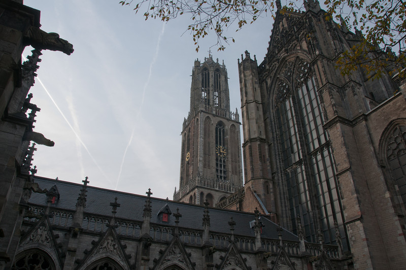 View of the Dom Tower of Utrecht from Dom Church - Netherlands