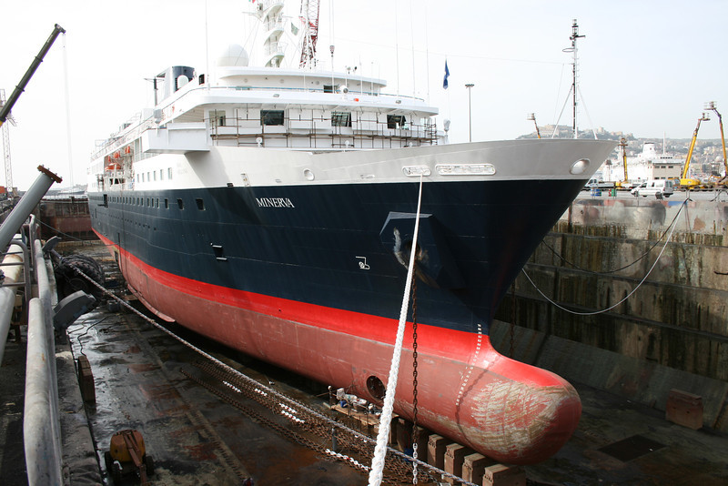 2008 - M/S MINERVA in dry dock in Napoli.