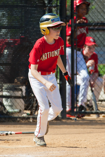 Toby pops up to the pitcher to end the 2nd inning with the Nats trailing 0-4. The Nationals struggled on both offense and defense in a 2-11 loss to the Orioles. They are now 7-4 for the season. 2012 Arlington Little League Baseball, Majors Division. Nationals vs Orioles (19 May 2012) (Image taken by Patrick R. Kane on 19 May 2012 with Canon EOS-1D Mark III at ISO 400, f4.0, 1/2000 sec and 280mm)