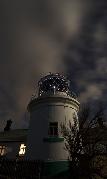 Wolf Moon at Anvil Point Lighthouse