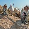 Monkey Mommies at Hanuman's Temple, Hampi, India