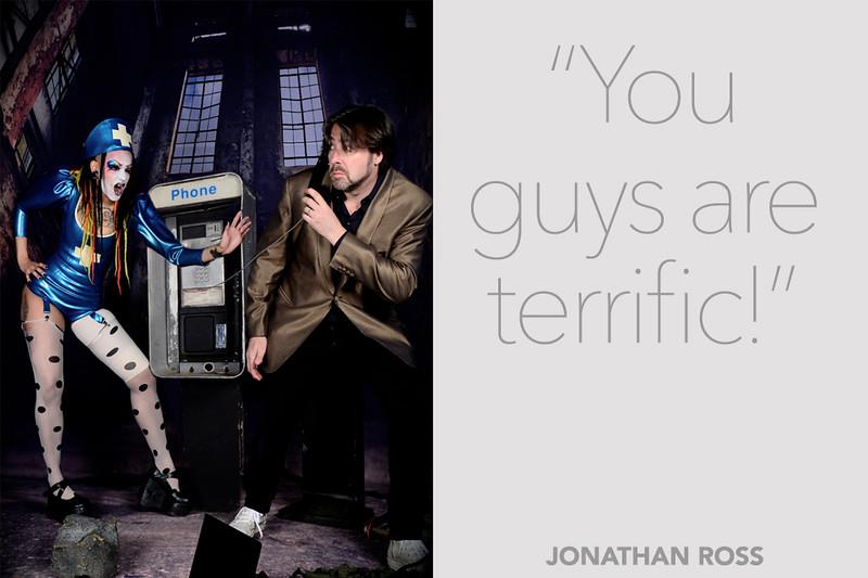 Jonathan Ross at Lucha Britannia