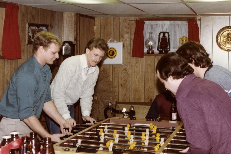 Dec 83 Conway's basement during Xmas Break Riis, Conway Blake and Beichert