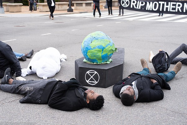 Extinction Rebellion protest in DC on January 26, 2019