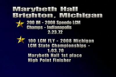 Marybeth Hall LCM swim videos