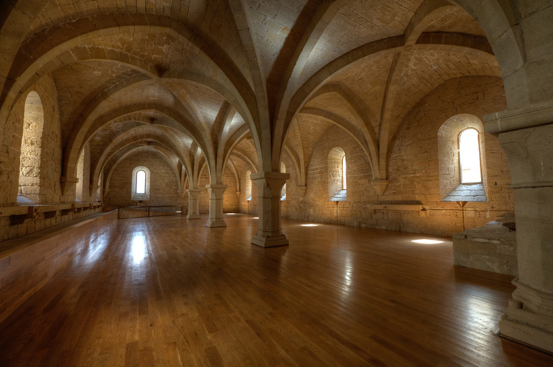 The Wine Room in Poblet Monastery in Catalonia, Spain