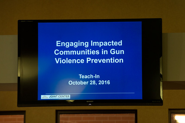 October 28: Engaged Impacted Communities in Gun Violence Protection Teach-In