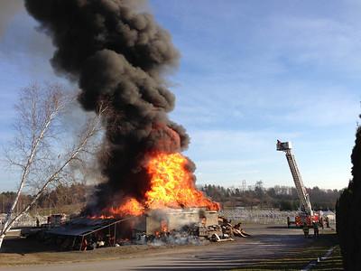Londonderry Flea Market Barn Fire Nov 12, 2012