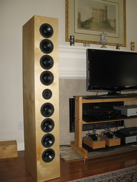 "The Art Arrays are a line array type speaker using eight 5.5"" woofers with a single 1"" dome tweeter."