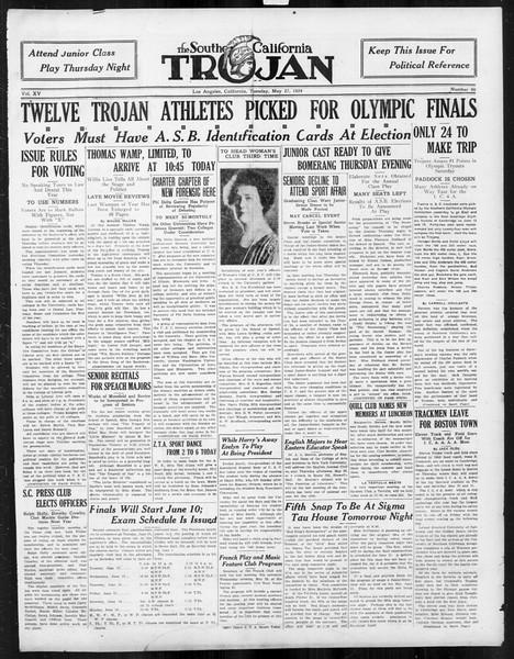 The Southern California Trojan, Vol. 15, No. 90, May 27, 1924