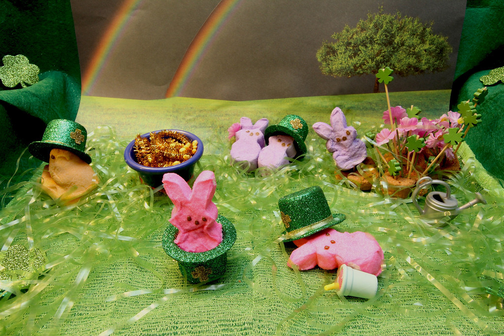 ". ""Saint Patrick\'s PEEPS,\"" by Margie Born, Inver Grove Heights"