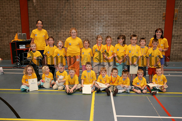 Pictured are participants of Newry and Mourne leisure services summer camp 2006. 06W31N22