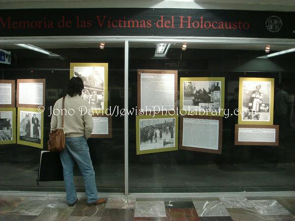 MEXICO, Mexico City. Holocaust exhibit, Zocalo subway station. (2008)