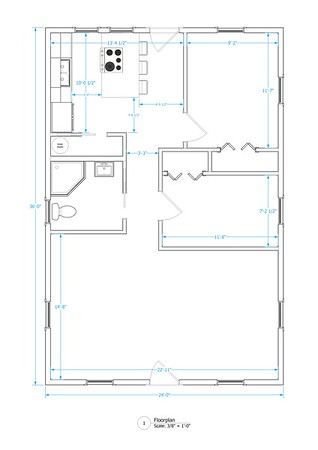 Two Bedroom - 800 sqft