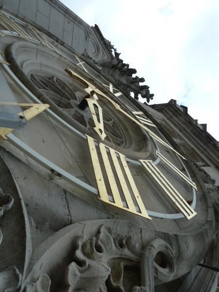 clock in the Beffroi, close-up